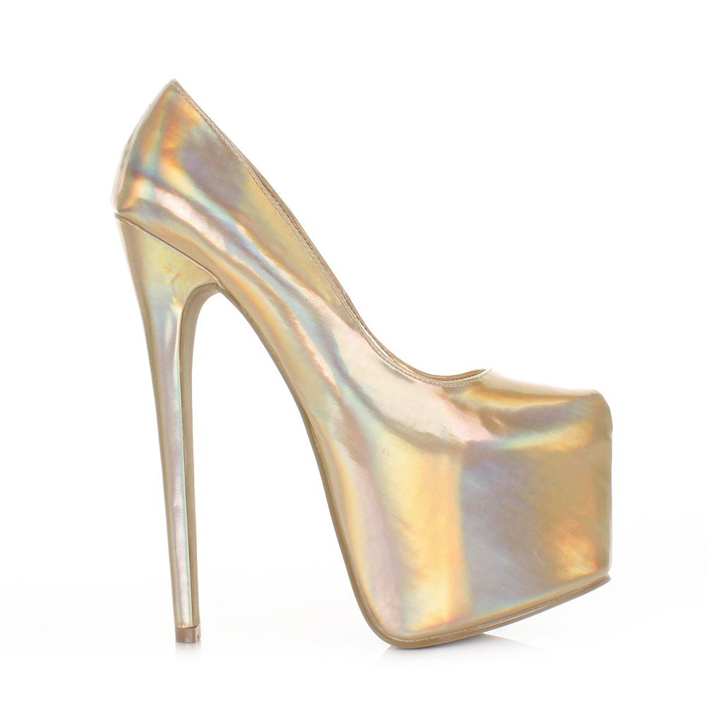 Gold Metallic High Heels