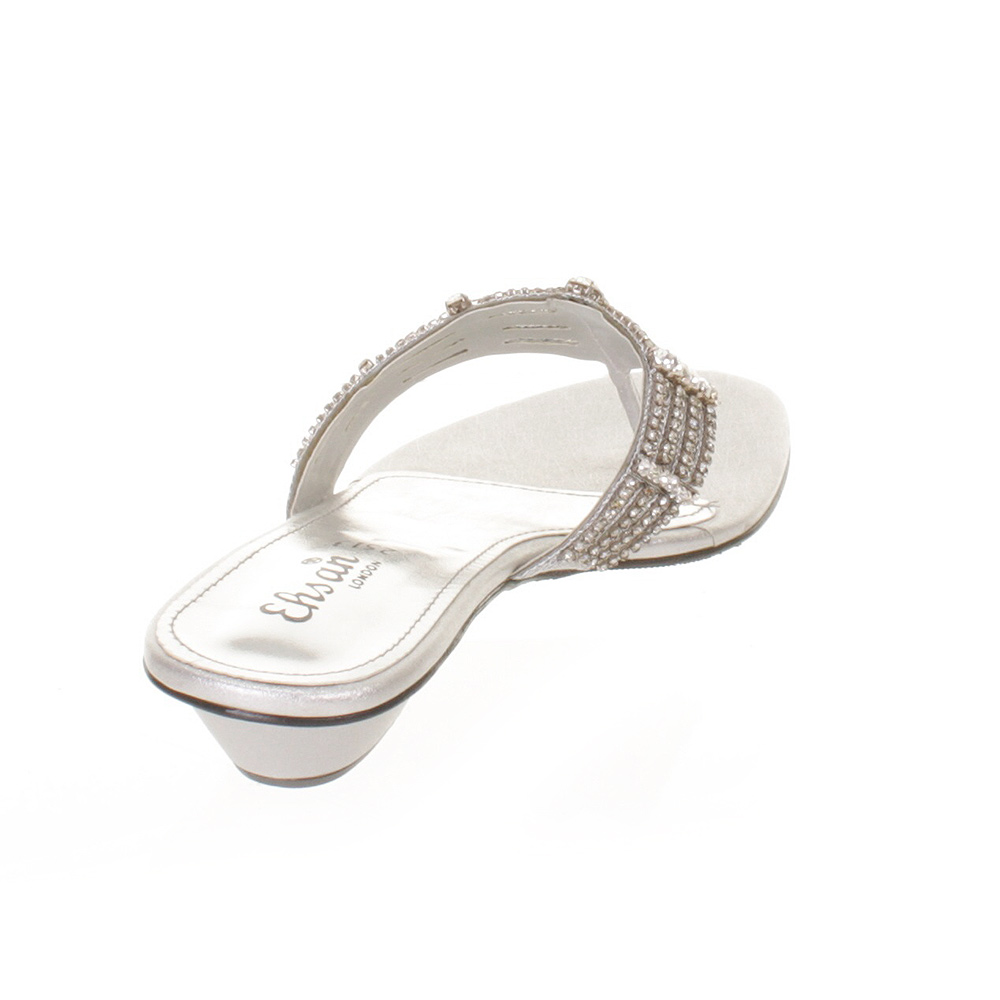 WOMENS LADIES FLAT DIAMANTE MULE SANDALS PROM SHOES SPARKLY SIZE 3-9 | EBay