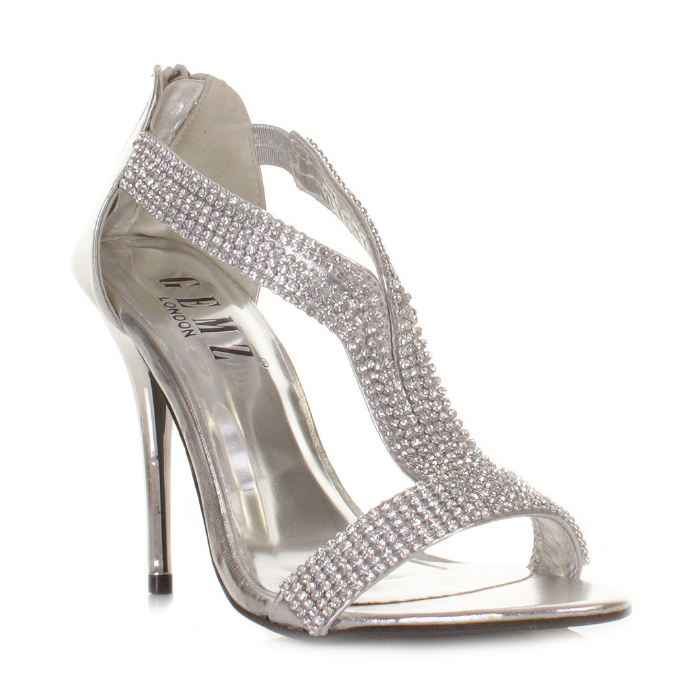 Homecoming Heels - Prom Shoes Ll 33H Silver