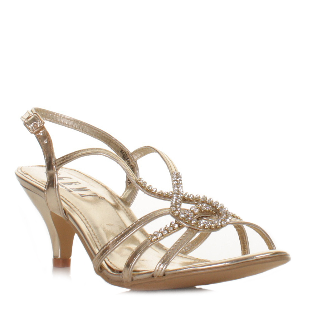 Gold Sandal Heels - Prom Shoes Ll Gold