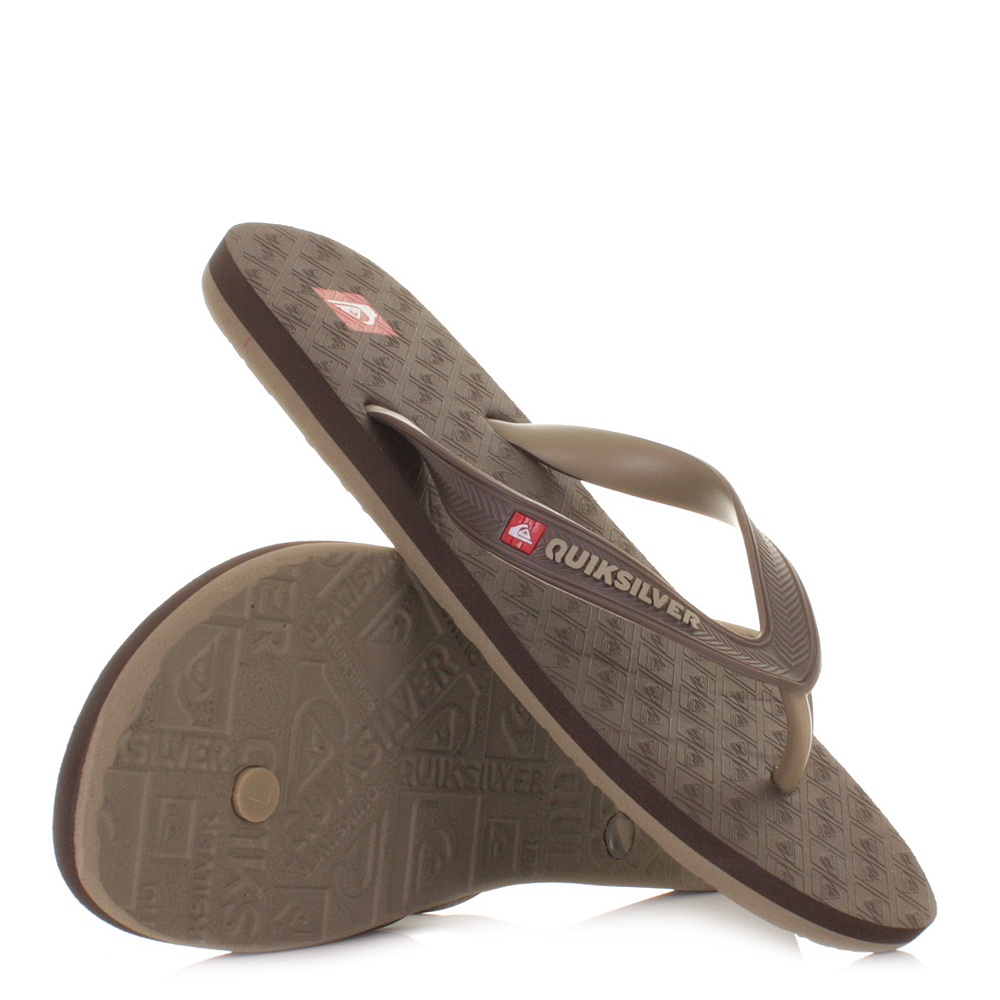 herren flip flops sandalen quiksilver compound braun hellbraun 39 46 ebay. Black Bedroom Furniture Sets. Home Design Ideas
