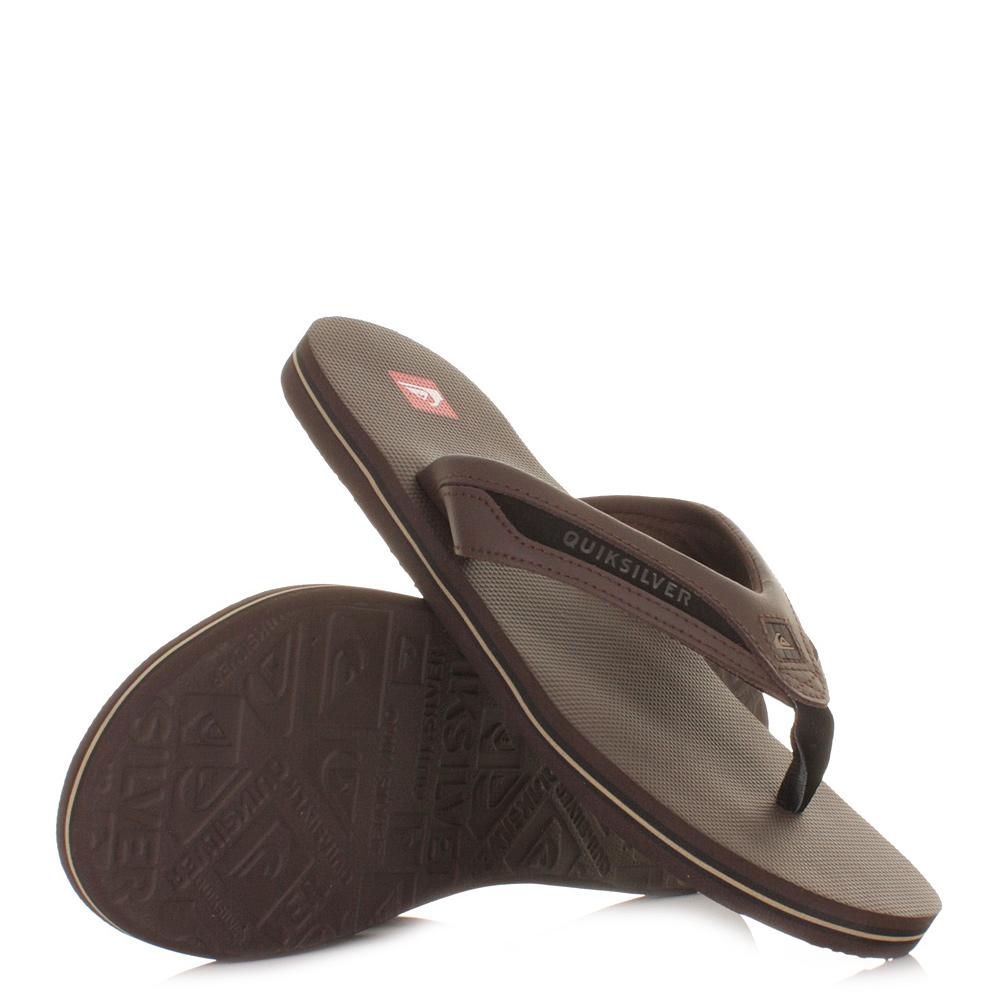 quiksilber sandalen herren flip flops braun strand meer eu. Black Bedroom Furniture Sets. Home Design Ideas