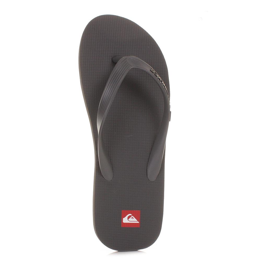 mens quiksilver molokai grey dark grey flip flops toe post surf sandal size 6 12 ebay. Black Bedroom Furniture Sets. Home Design Ideas