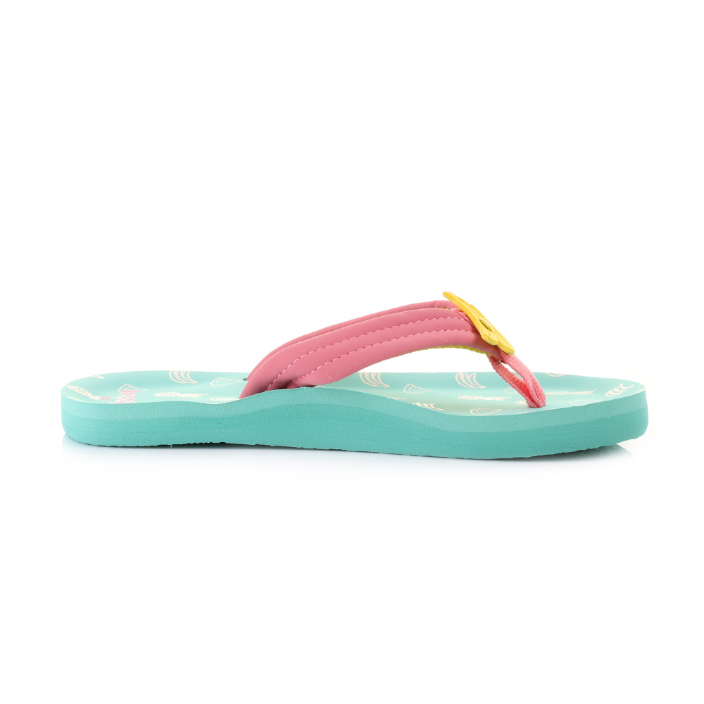girls kids childs reef ahi fruits banana green blue coral flip flops size  ebay
