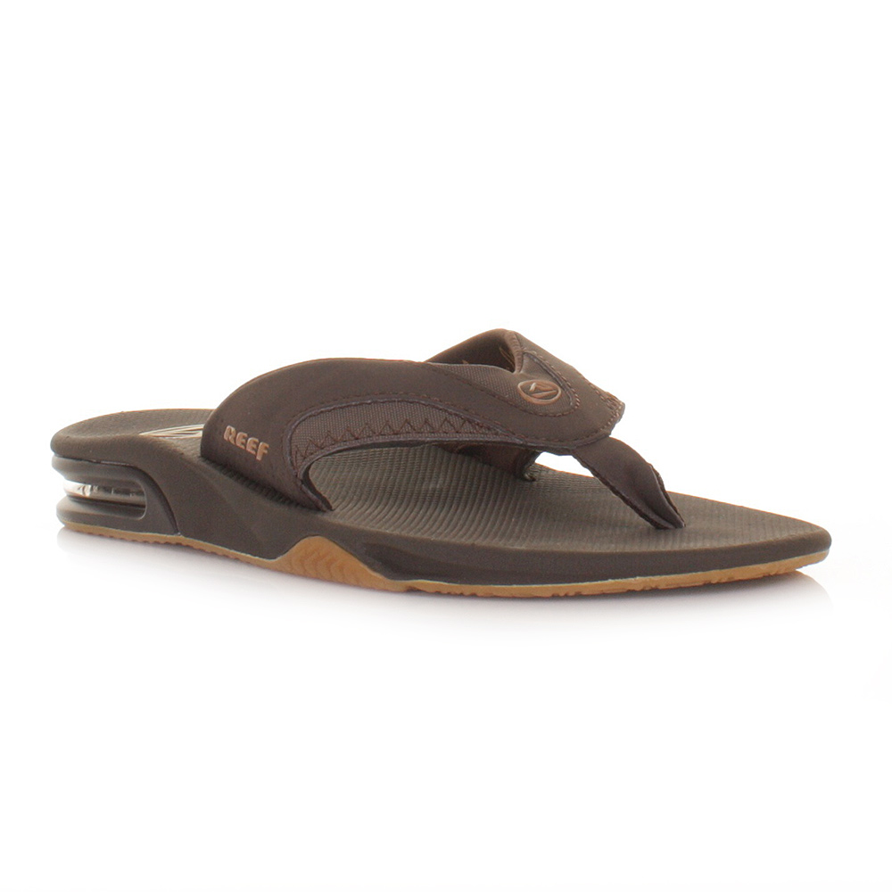 herren reef fanning braun gummi flip flops surfen strand sandalen gr e 6 12 ebay. Black Bedroom Furniture Sets. Home Design Ideas