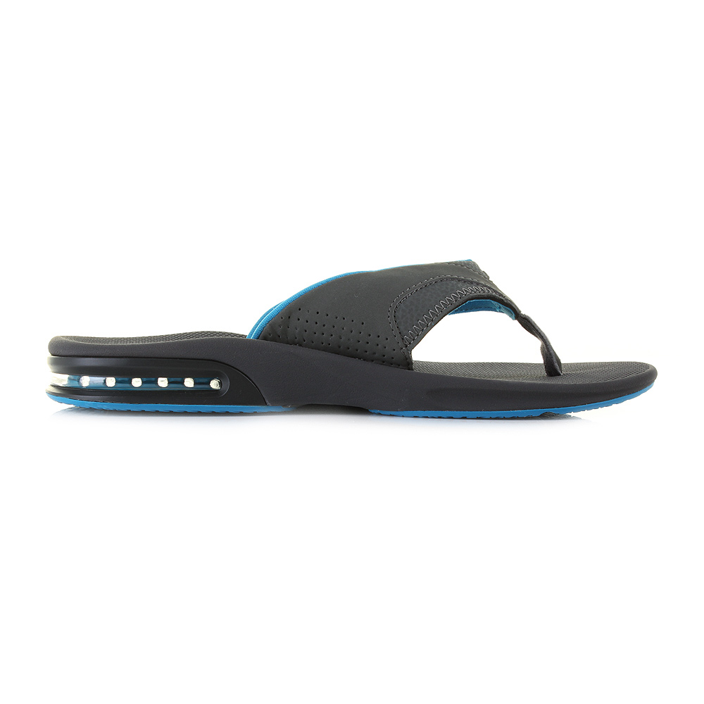 mens reef fanning gunmetal blue sports bottle opener flip flops sandals uk size ebay. Black Bedroom Furniture Sets. Home Design Ideas