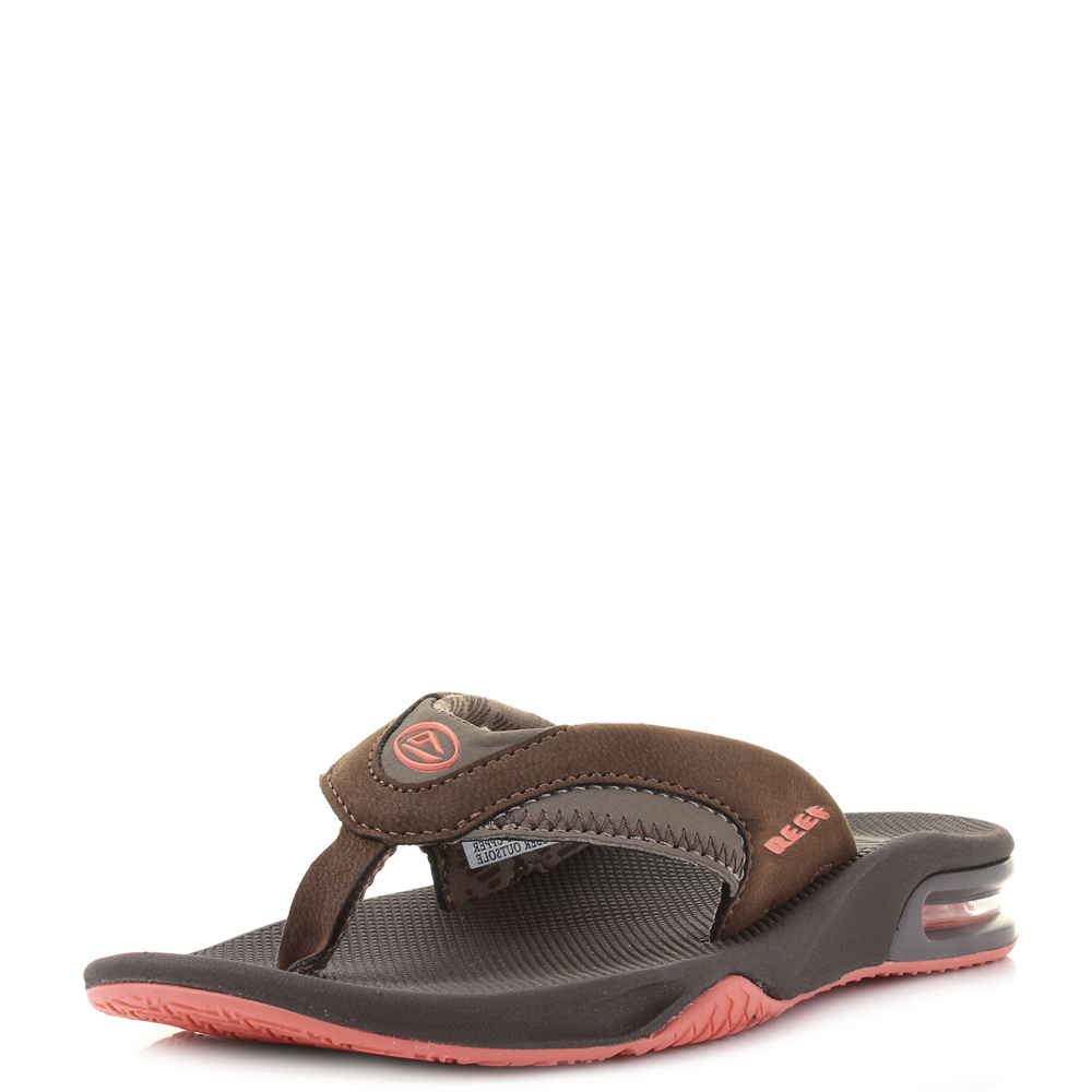 Creative Womens Reef Ginger Drift Brown Aqua White Comfort Toe Post Flip Flop Sandal Size | EBay