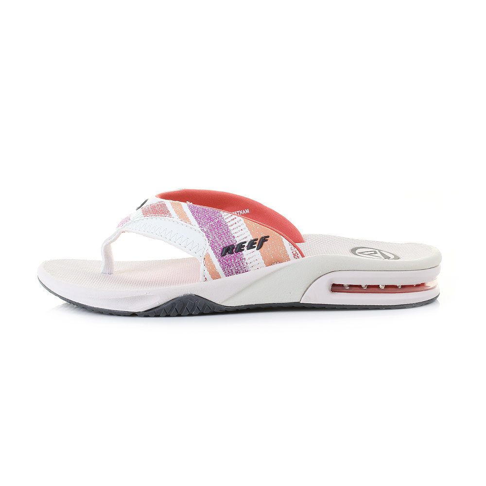 Womens Reef Fanning Pink and Coral Lines Toe Post Flip ...