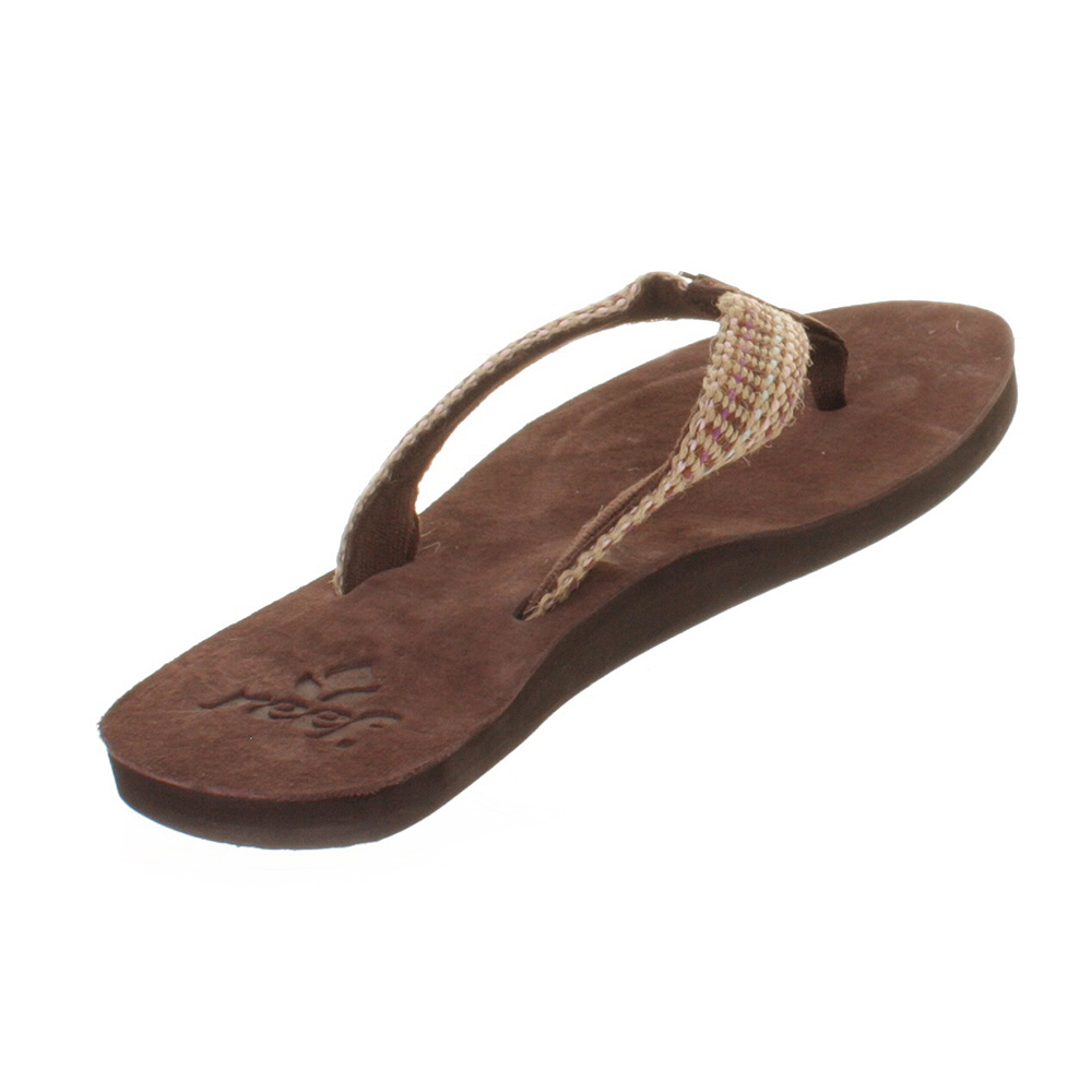 womens reef gipsy love brown pink flip flops surf beach sandals size 3 8 ebay. Black Bedroom Furniture Sets. Home Design Ideas