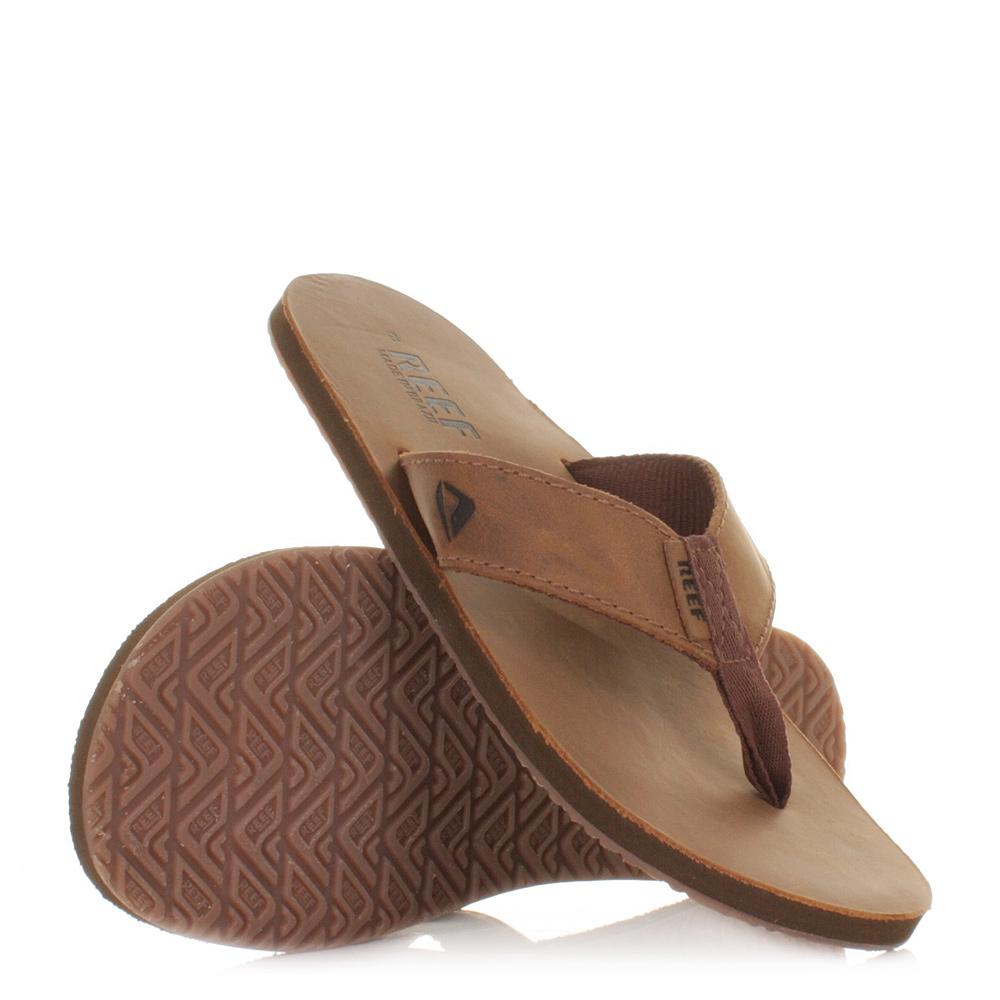 herren reef leder braune damen flip flops sandalen gr e 37 46 ebay. Black Bedroom Furniture Sets. Home Design Ideas