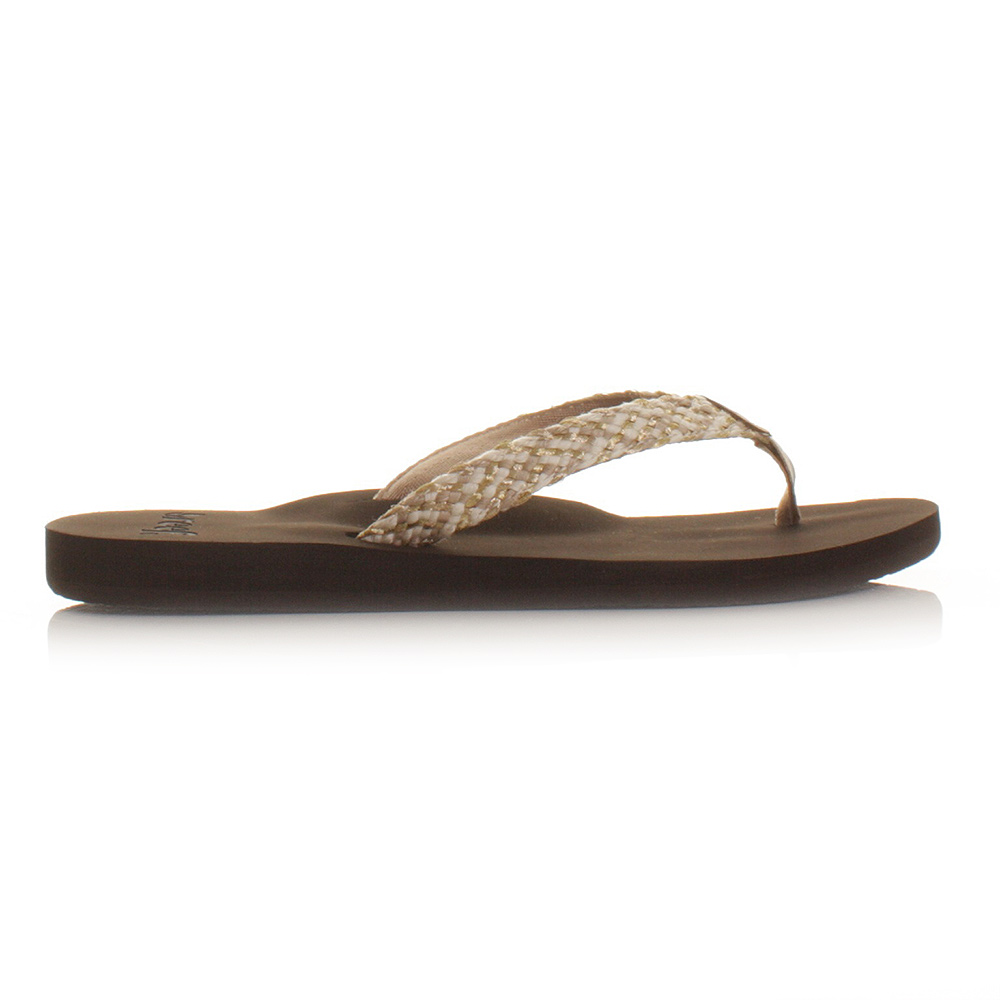 womens reef mallory brown metallic flip flops sandals. Black Bedroom Furniture Sets. Home Design Ideas