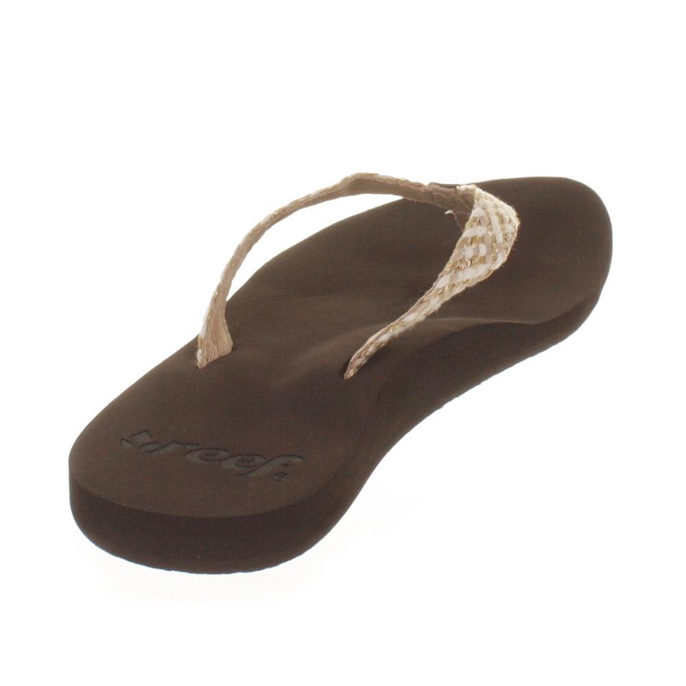 womens reef mallory brown metallic flip flops sandals. Black Bedroom Furniture Sets. Home Design Ideas