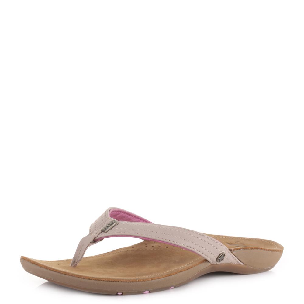 Lavender sandals shoes - Womens Reef Miss J Bay Tan Lavender Leather Beach Flip Flop Sandals Size