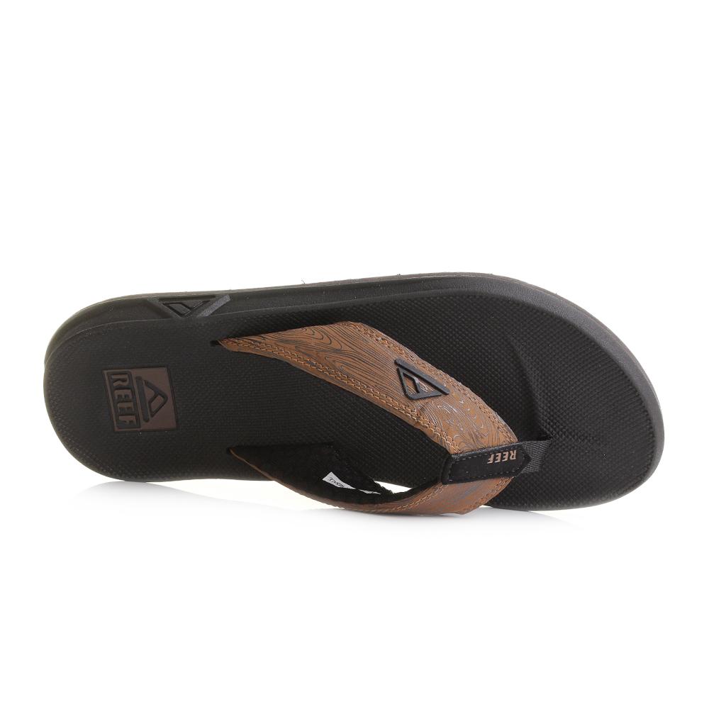 Black reef sandals - Mens Reef Phantom Prints Black Wood Toe Post