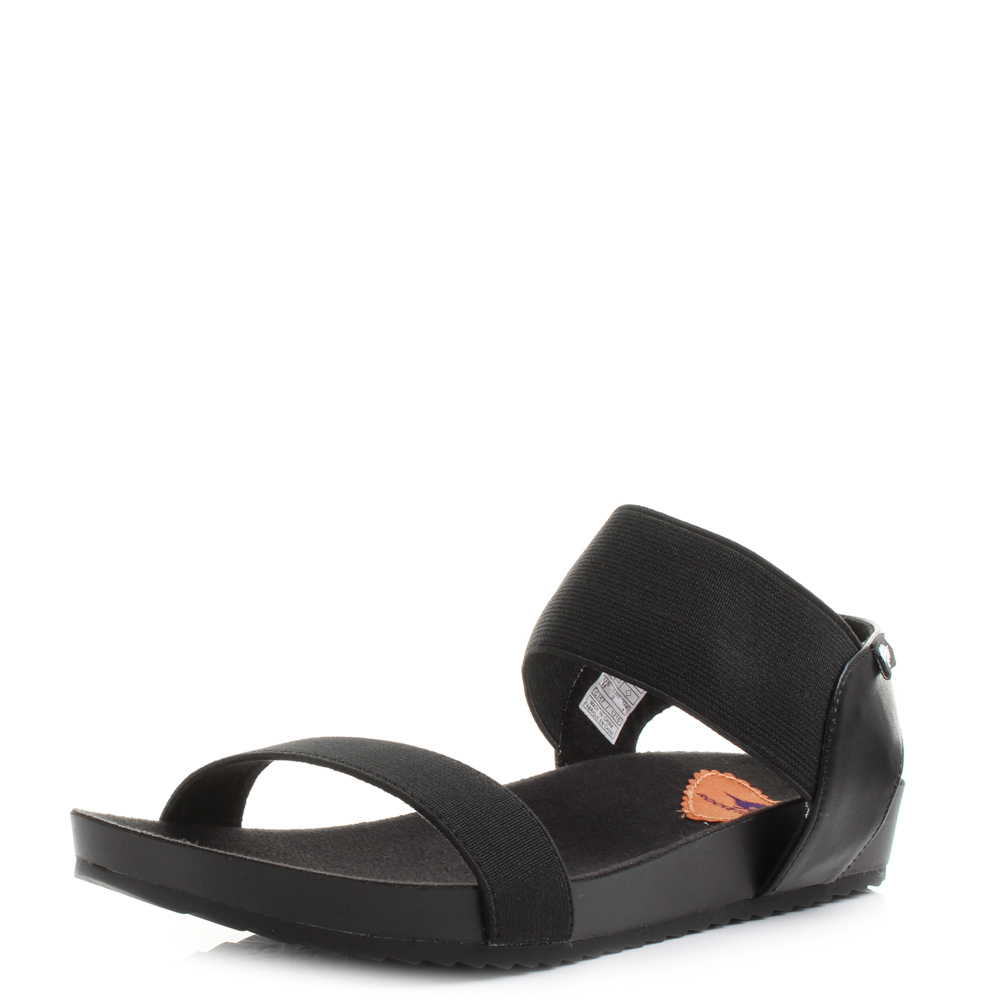 Black sandals uk - Womens Rocket Dog Fuji Gore Black Elasticated Comfort Walking Sandals Uk Size These Cute Sporty Sandals Are Perfect For A Sunny Day
