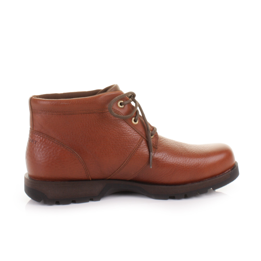 MENS ROCKPORT BOMBAY BROWN WATERPROOF LEATHER CHUKKA ANKLE BOOTS ...