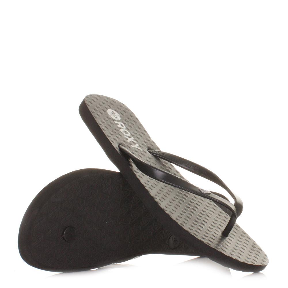 sandalen flip flops damen roxy bamy schwarz surf beach 36. Black Bedroom Furniture Sets. Home Design Ideas