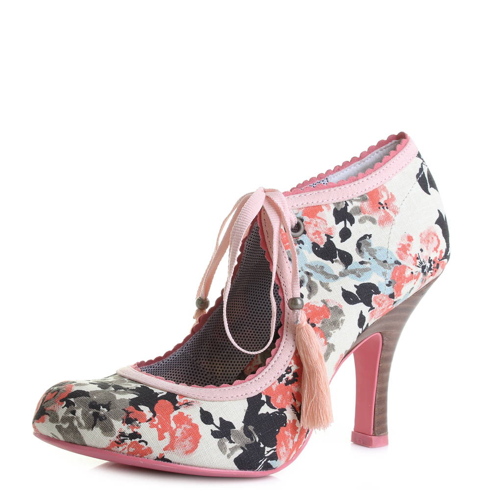 Womens-Ruby-Shoo-Willow-Pink-High-Heeled-Mary-Jane-Court-Shoes-Shu-Size