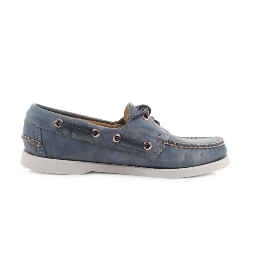 Womens-Sebago-Dockside-Slate-Blue-Washed-Leather-Deck-Boat-Shoes-Shu-Size