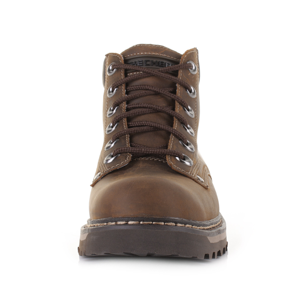 mens skechers cool cat bully 2 brown leather work casual