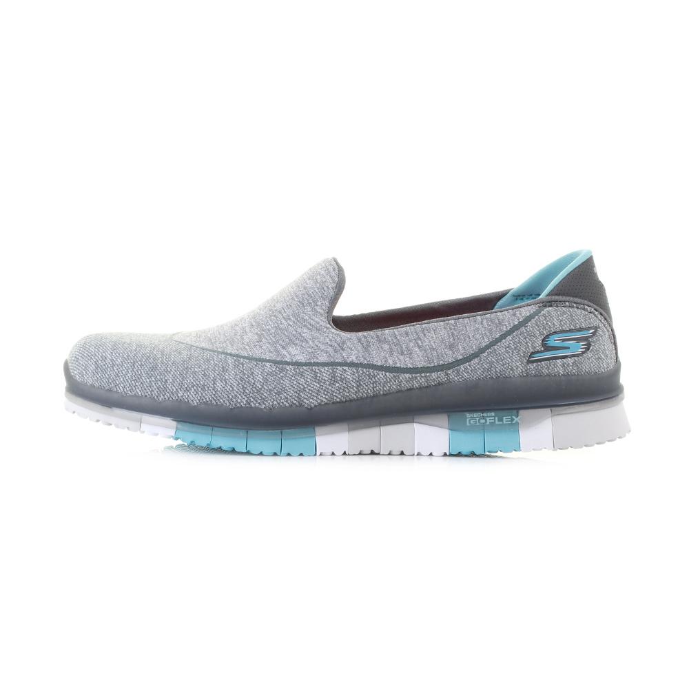 womens skechers go flex charcoal blue lightweight activity slip on shoes sz size ebay. Black Bedroom Furniture Sets. Home Design Ideas