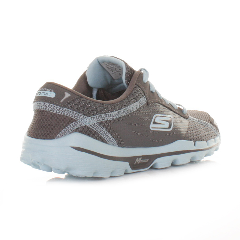womens skechers go run 2 grey blue running gym fitness. Black Bedroom Furniture Sets. Home Design Ideas