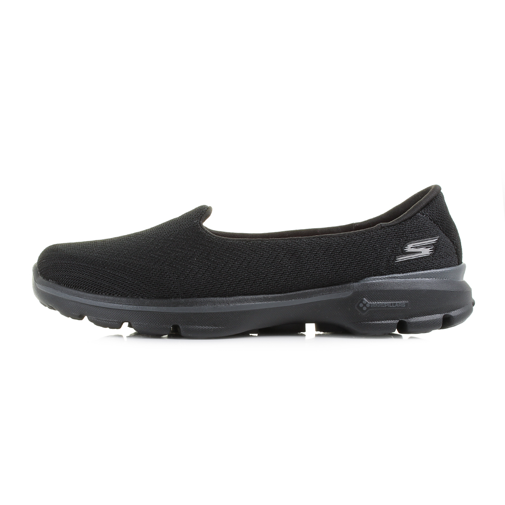 womens skechers go walk 3 insight black slip on comfort. Black Bedroom Furniture Sets. Home Design Ideas