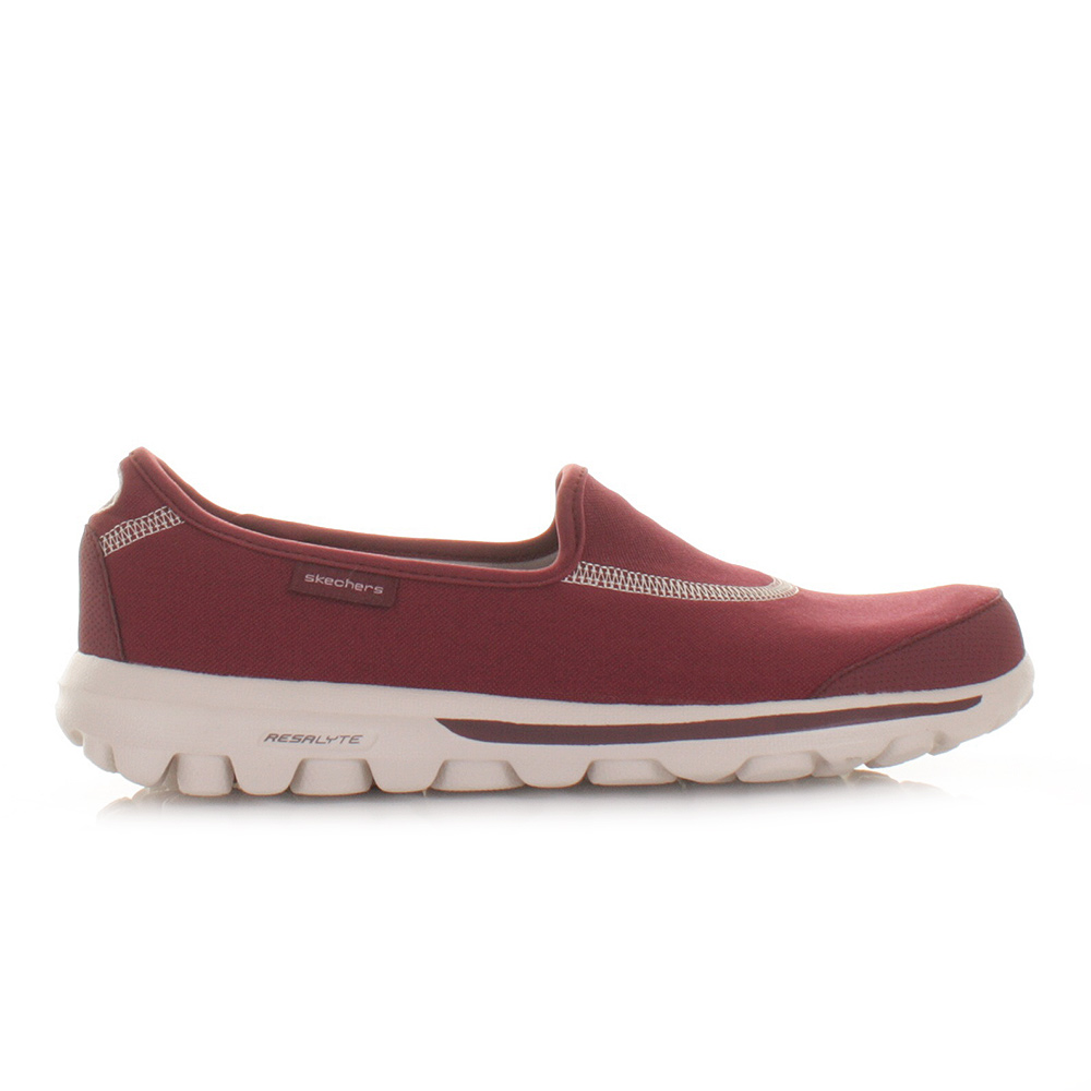 skechers womens trainers shoes go walk burgundy comfort. Black Bedroom Furniture Sets. Home Design Ideas