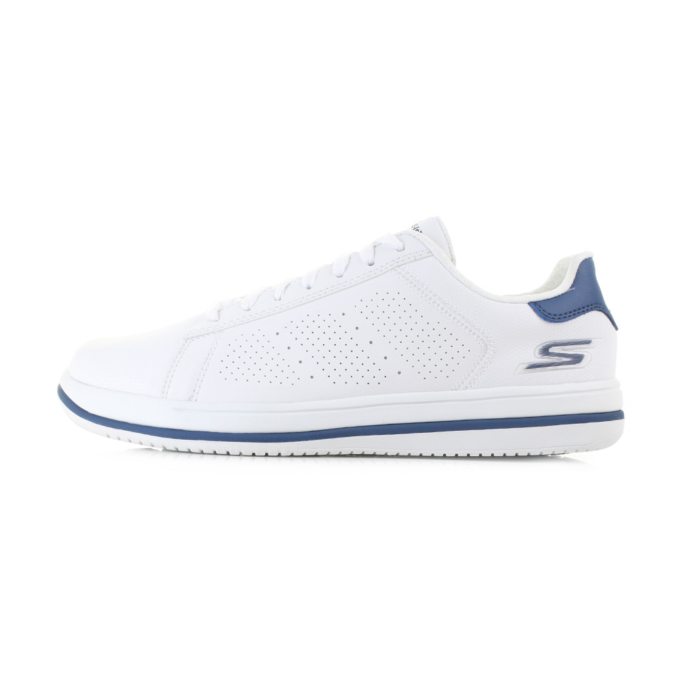 mens guys skechers on the go element white navy comfort lightweight shoe shu siz ebay. Black Bedroom Furniture Sets. Home Design Ideas