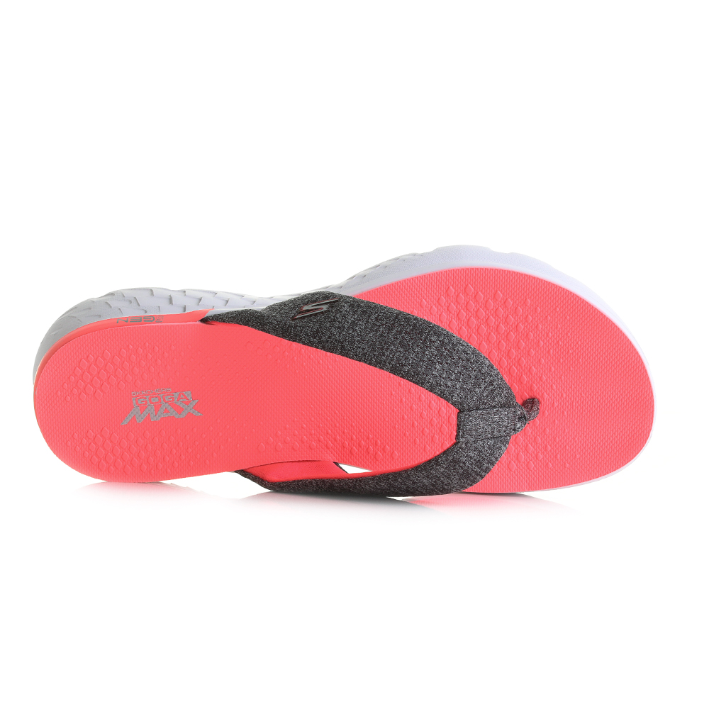 Womens Skechers On The Go 400 Vivacity Charcoal Hot Pink