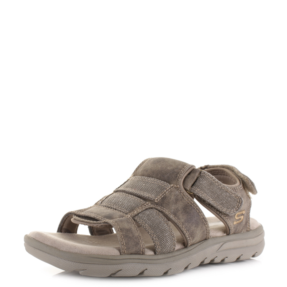 Mens Skechers Supreme Equipt Taupe Relaxed Fit Comfort