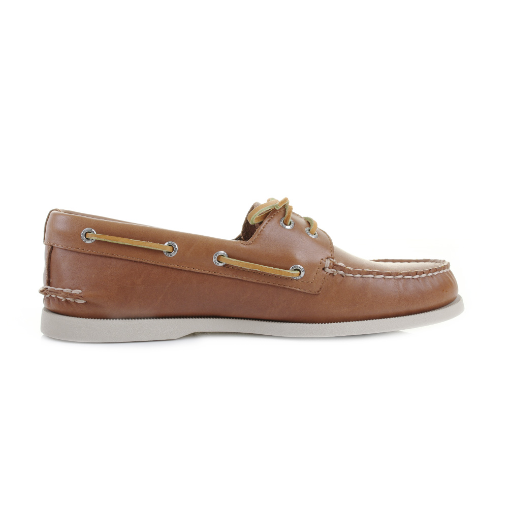 Sperry Men S Authentic Original A O Boat Shoes Brown White