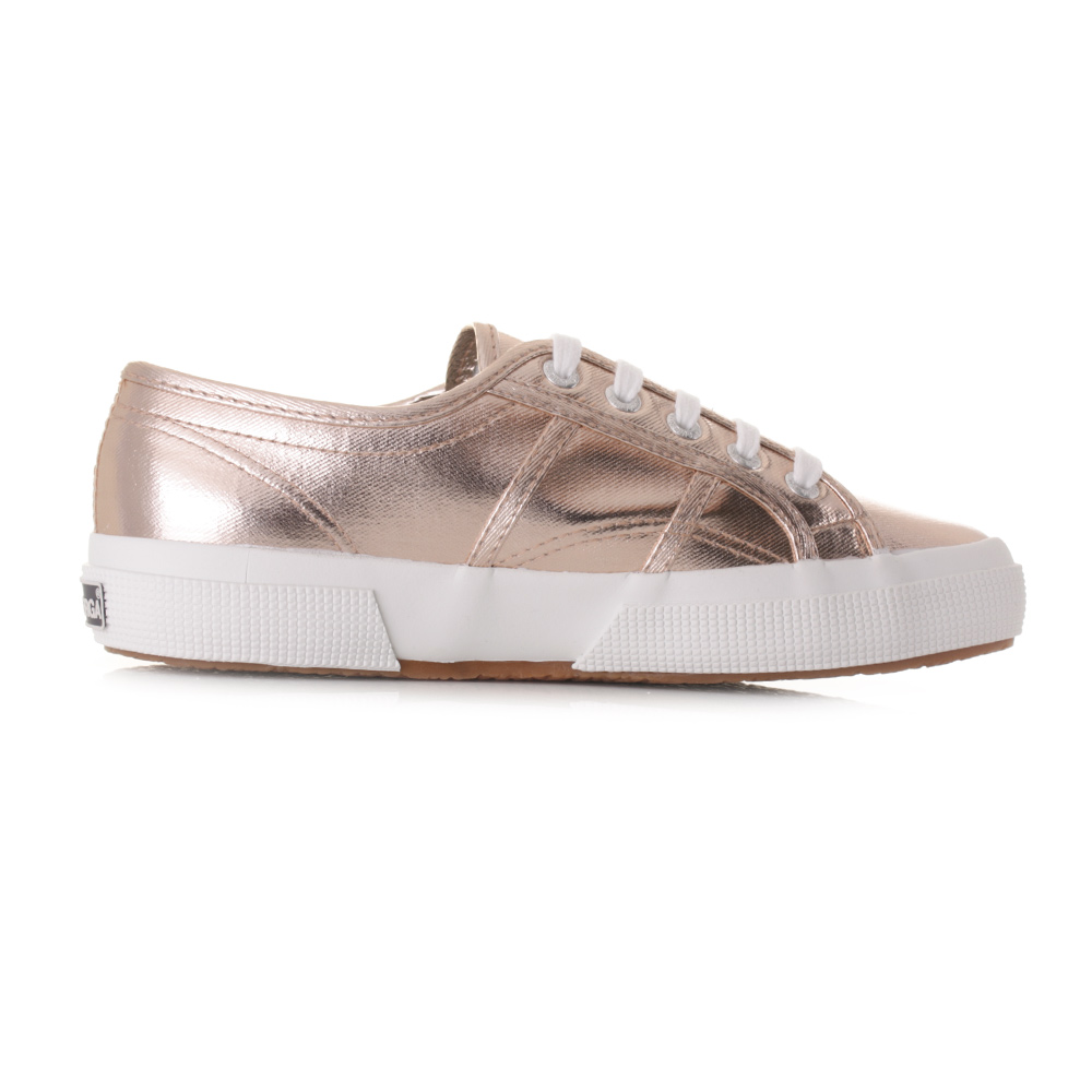 womens superga 2750 cotmetu rose gold metallic lace up trainers shoes uk size ebay. Black Bedroom Furniture Sets. Home Design Ideas