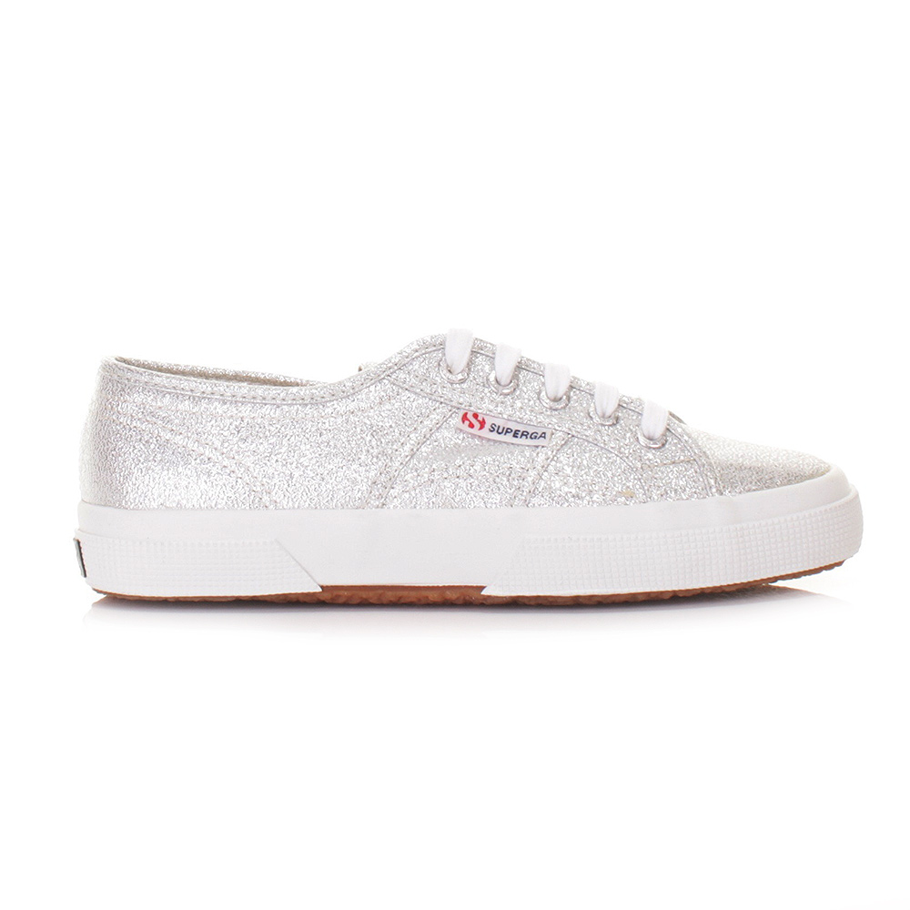 womens superga 2750 lamew silver glitter casual ladies trainers uk size ebay. Black Bedroom Furniture Sets. Home Design Ideas
