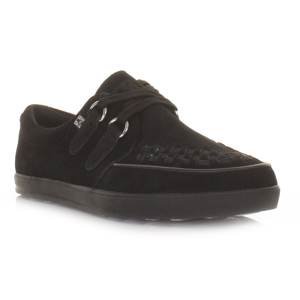 tuk shoes black mens unisex rocker sneaker creepers flat