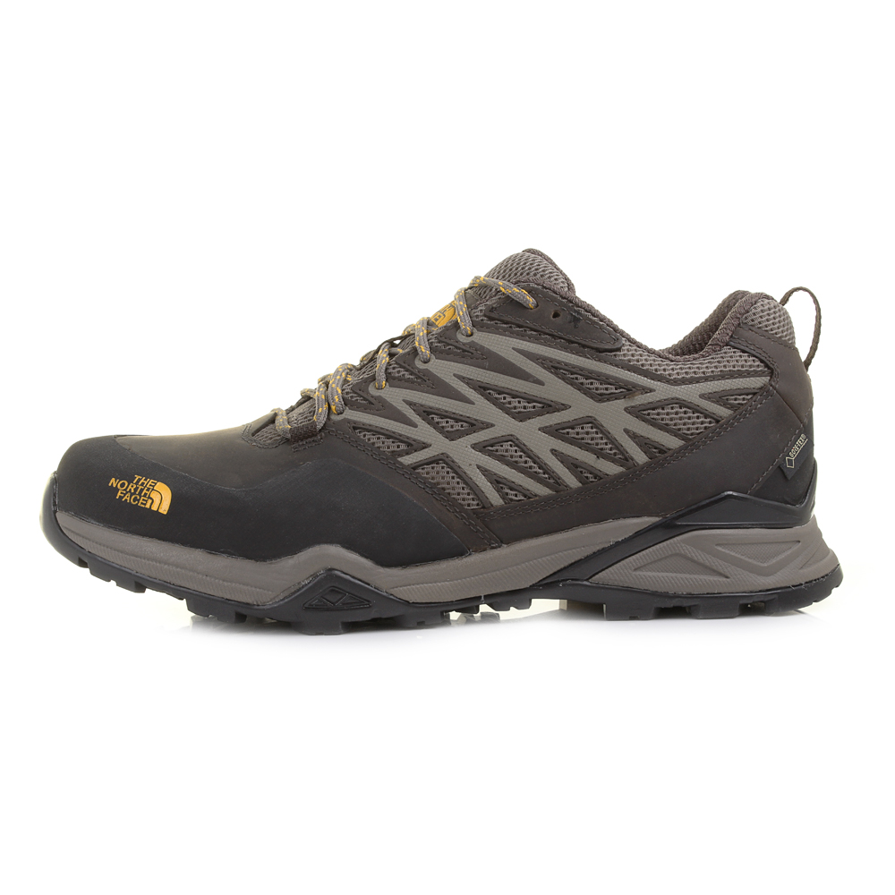 Mens The North Face Hedgehog Hike GTX Morel Brown Yellow Hiking ...