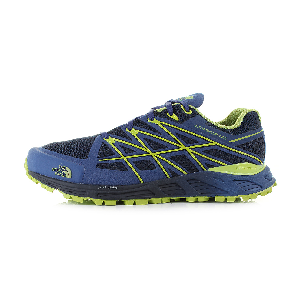 Mens Guys The North Face Ultra Endurance Cosmic Blue Macaw Green Trainer UK Size
