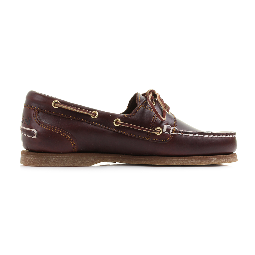 Womens Timberland Amherst Root Beer Brown Leather Boat Deck Shoes ...