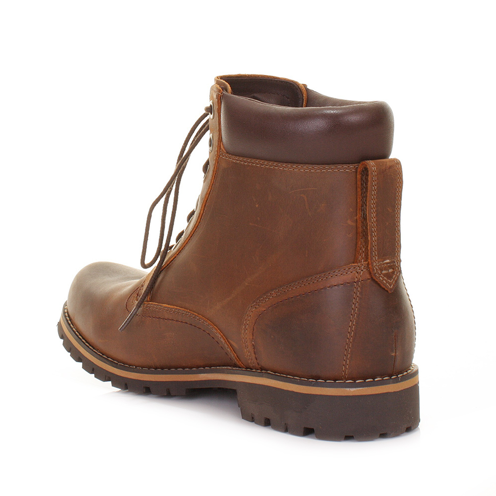 TIMBERLAND EARTHKEEPERS RED BROWN 6 IN RUGGED WATERPROOF LEATHER ...