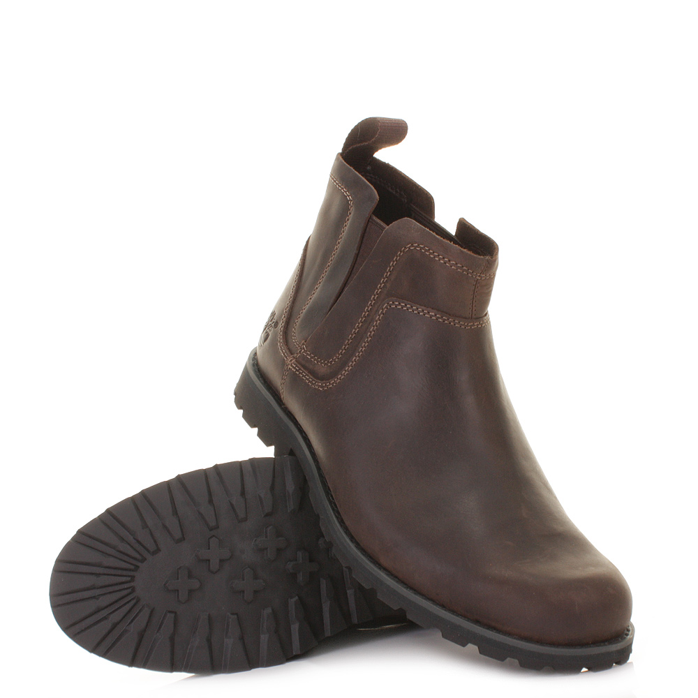 timberland earthkeepers rugged pull on brown