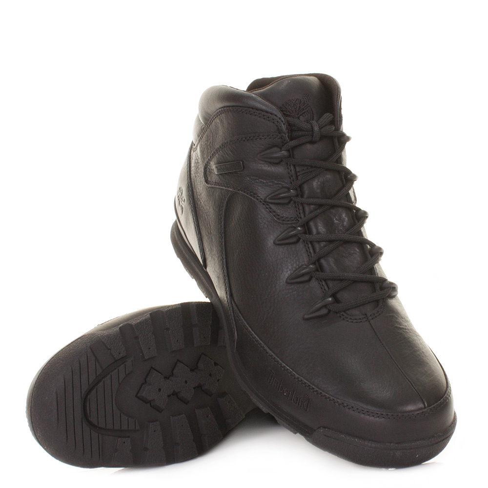 MENS TIMBERLAND NEWMARKET EURO ROCK BLACKOUT HIKER ANKLE BOOTS SIZE 6 12