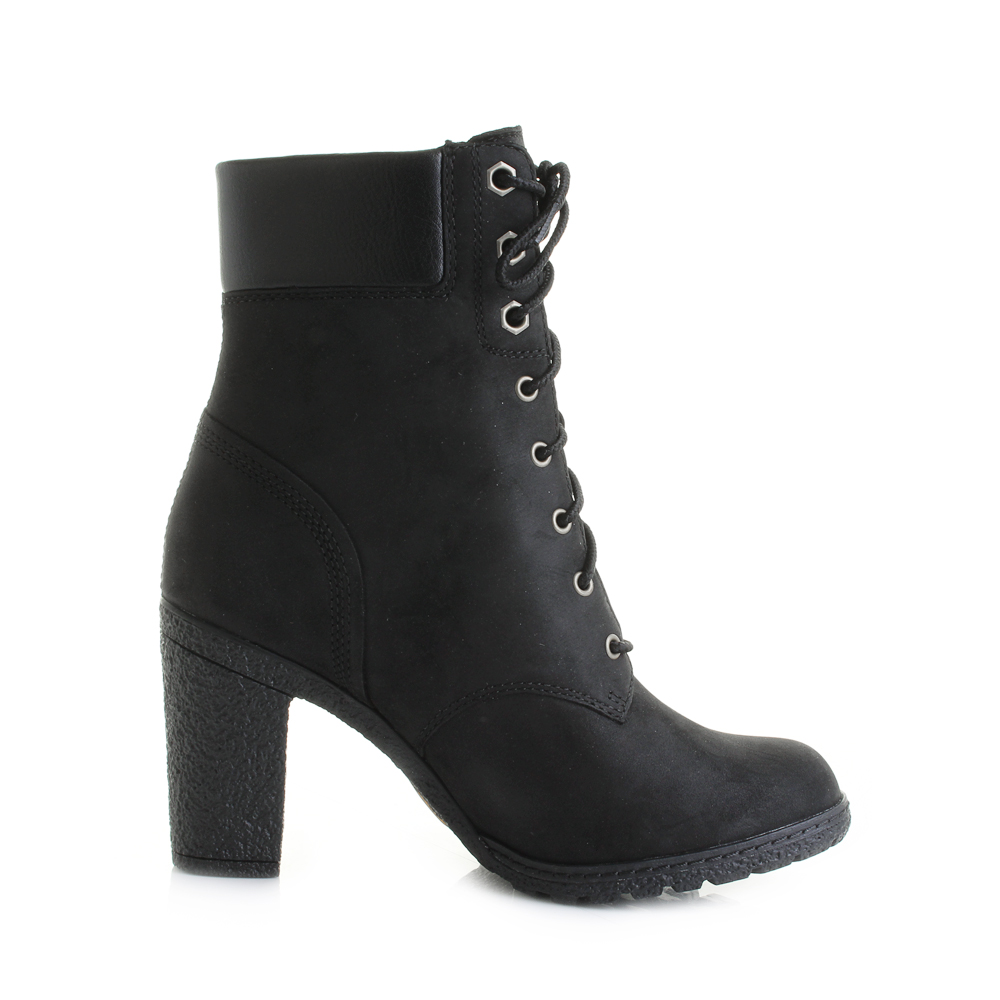 womens timberland glancy 6 inch black leather ankle boots