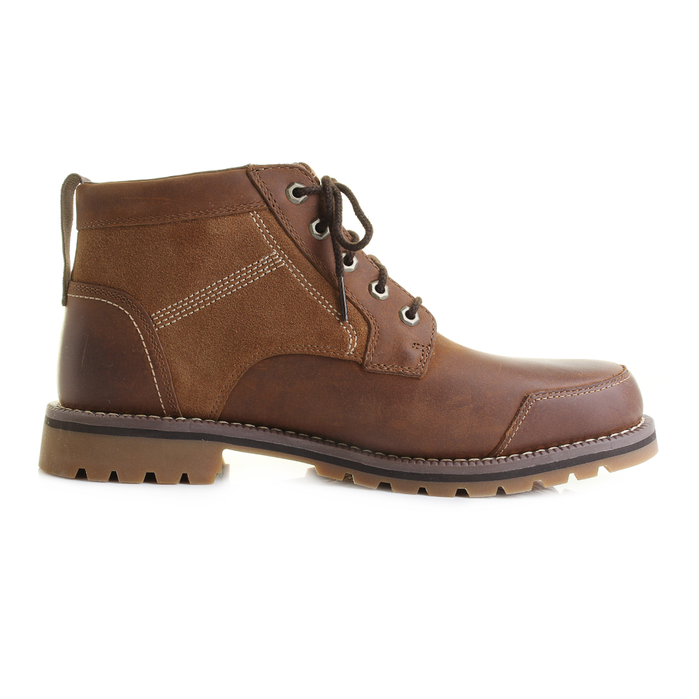 mens timberland larchmont chukka brown lace up ankle boots