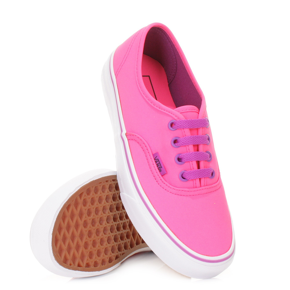 Beautiful Vans Neon Authentic Lo Pro Womens Shoes Pink White Puma00823  223
