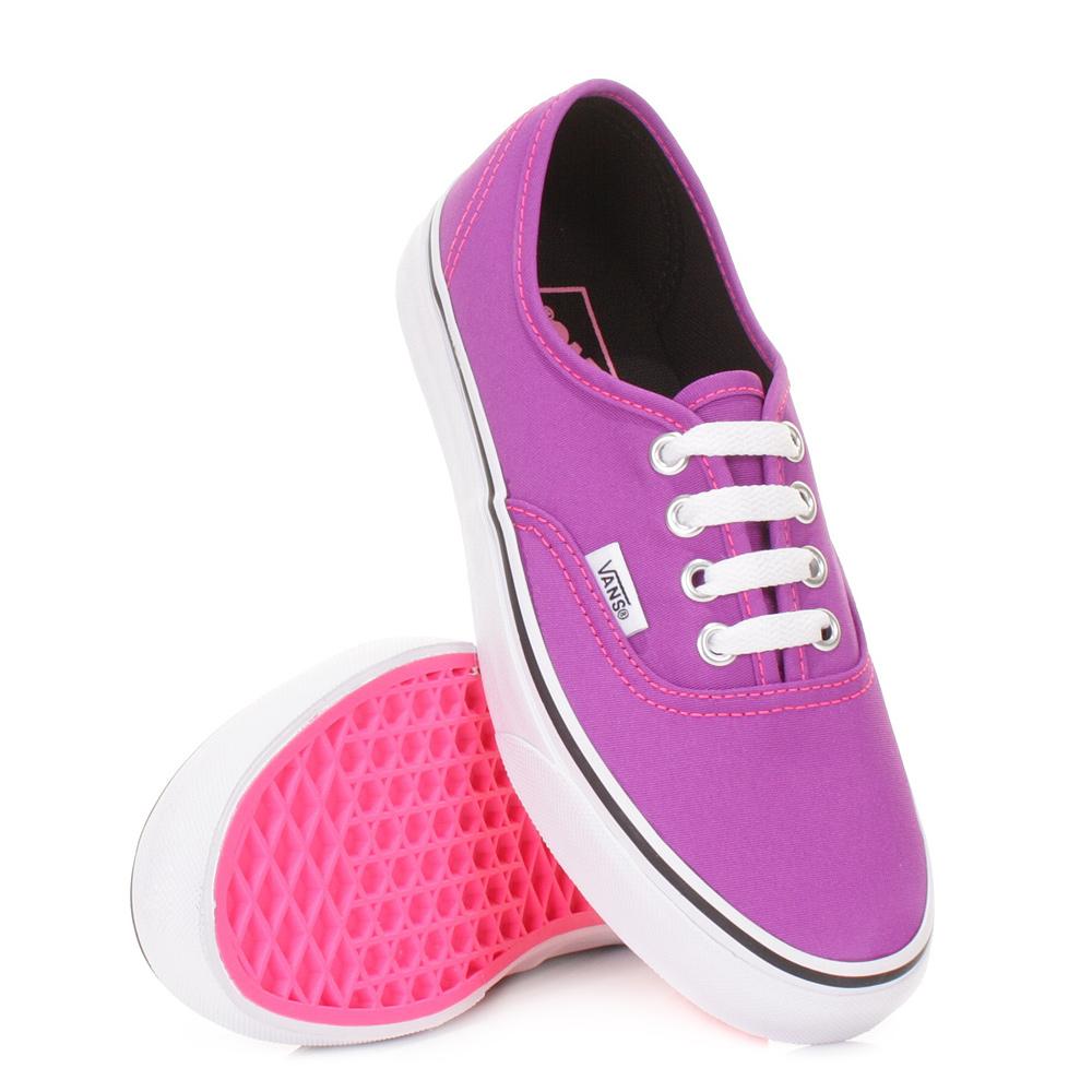Unique Vans Authentic Neon Purple Amp White Shoes Womens At Zumiez  PDP