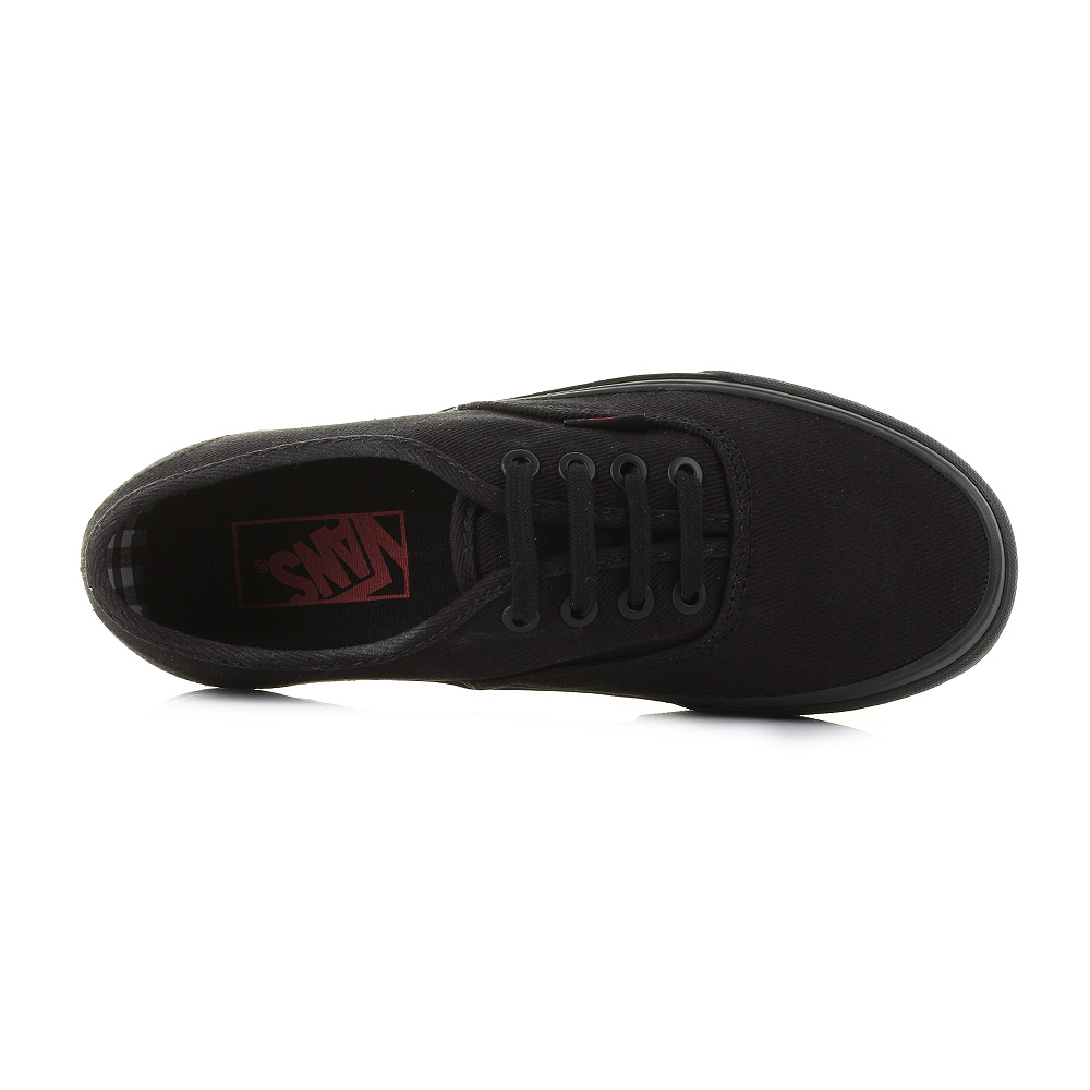 Womens Ladies Vans Authentic (Twill & Gingham) Black Black Skate Trainer Uk Size