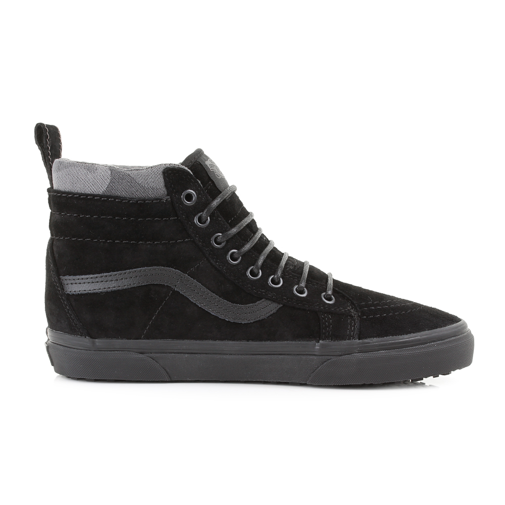 vans sk8 high tops black/black