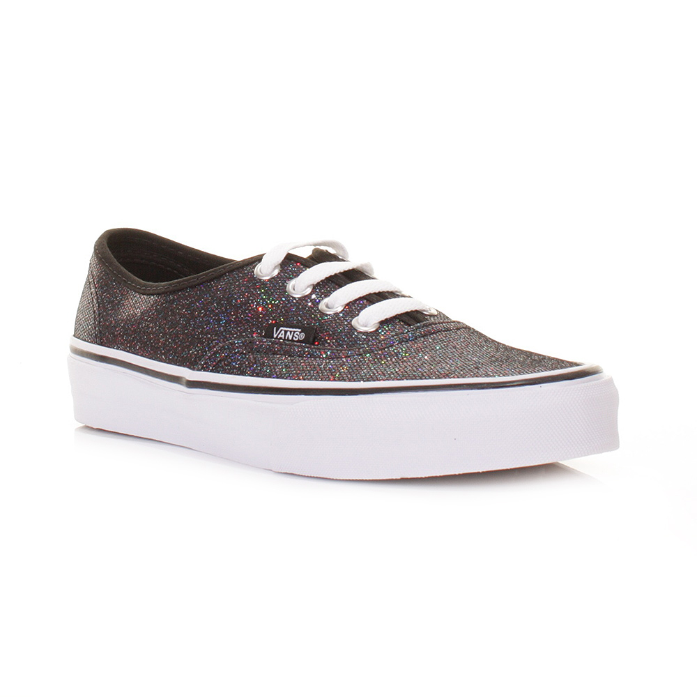 femme vans authentic noir iris e paillettes chaussures femme baskets taille 3 8 ebay. Black Bedroom Furniture Sets. Home Design Ideas