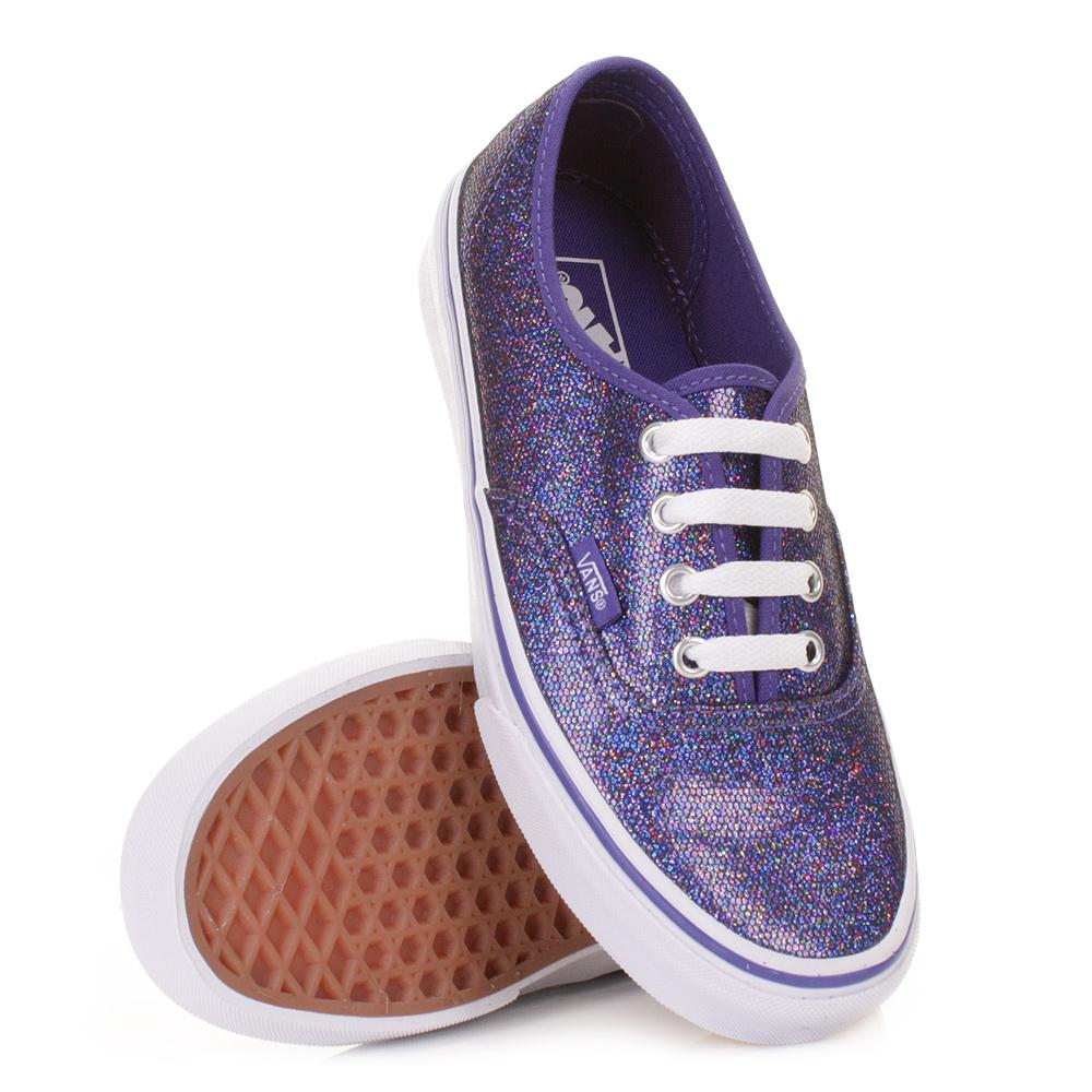 vans shoes purple glitter