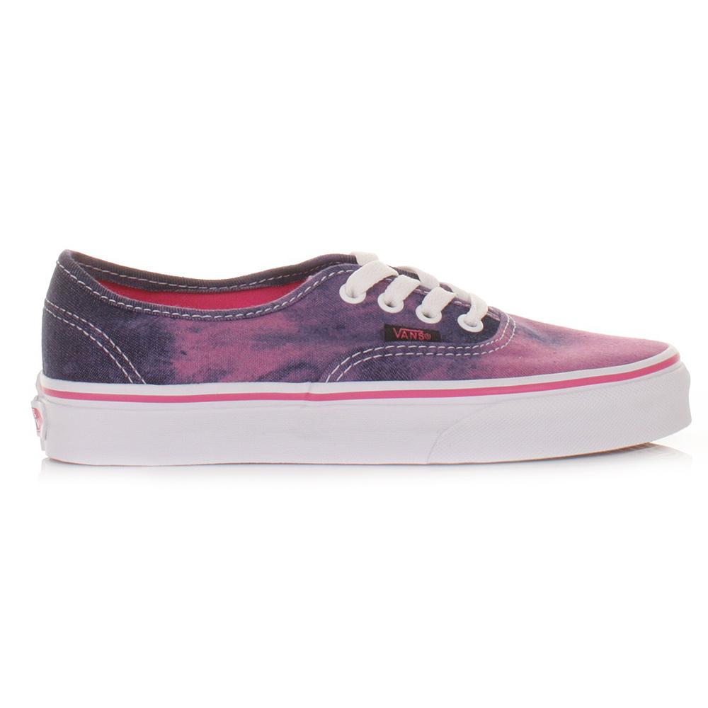 womens vans authentic acid demin pink shoes